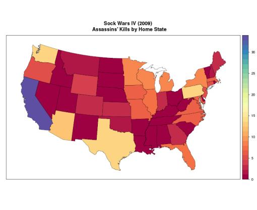 Sock Wars IV: Kills by State